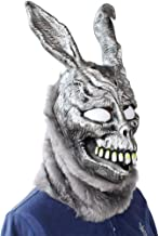 Ktyssp Donnie Darko Frank Rabbit Mask Halloween The Bunny Latex Hood with Fur Mask Easter