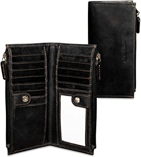Jack Georges Voyager Slim Double Zip Wallet, Leather Card Case