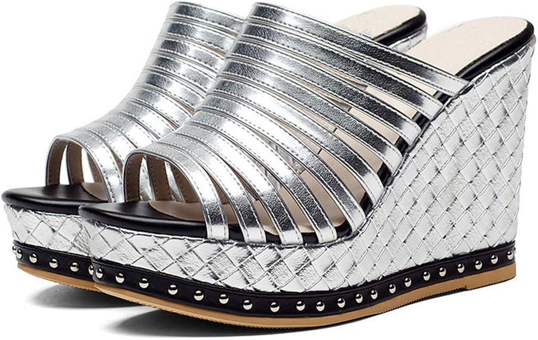 Eora-2sl Summer shoes Wedges Spuer Heels shoes Woman Sandals Inside Pigskin Leather shoes Platform