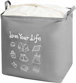 Aquarius CiCi Grande capacité Sac de rangement pour vêtements, couverture, bagages, jouets avec ouverture à poutre, organi...