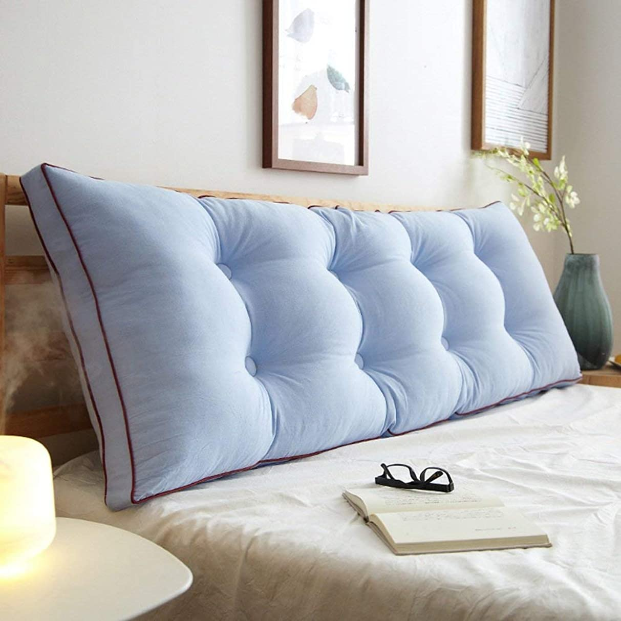 と原点セブンLts クッションファブリック取り外し可能なソフト保護ウエストダブルベッドバック読書枕 (Color : C, サイズ : 150*50*20cm)