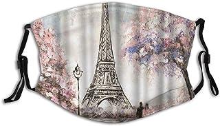 Gesicht Schal Ölgemälde Frankreich Paris Eiffelturm Europäische Stadt Landschaft Romantischer Liebhaber Wiederverwendbarer Mund Bandanas Mit 2 Filtern