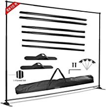 GUOHONG 8 x 10 ft Photo Backdrop Stand Kit, Banner Stand Multifunctional Adjustable Telescoping Backdrop Stand with Carry Bag,Reuse for Trade Show and Display Booth Exhibitor Background