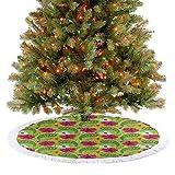 Weiche Weihnachtsbaummatte Blumenmuster mit lebendigem Paisleymuster alt Vintage Boho Stil Druck...