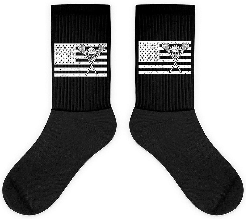 Lacrosse American Flag US Vintage Proud Player Sports Play Sock