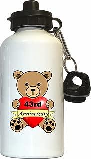 Happy 43rd Anniversary Water Bottle White
