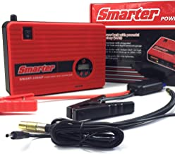 Car Jump Starter with Air Compressor, 400 AMP Peak Smart Jump Cable, Compressed Air hose and Digital Pressure Gauge, 14000mAh Li-on Battery Jump Pack, Built-in 2 USB Ports and LED Light