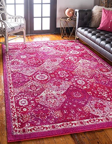 Unique Loom Penrose Collection Teppich, traditioneller Vintage-Stil, Magenta, 150 x 200 cm