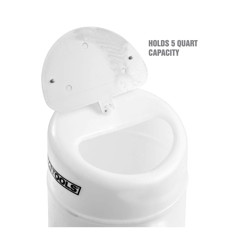 OEMTOOLS 87011 5 Quart Translucent Oil Dispenser, Oil Dispenser with Cap, Automotive Oil Container, Oil Container with Spout, Automotive Oil Dispenser