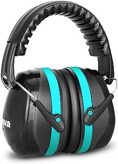 Fnova イヤーマフ 防音 遮音値34dB プロテクター 折りたたみ式 フリーサイズ 大人&子供用 自閉症 聴覚過敏 騒音対策 射撃 等様々な用途に (水色)