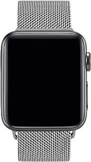 Vancle コンパチブル Apple Watch バンド 38mm 40mm 42mm 44mm ミラネーゼループ アップルウォッチバンド コンパチブルApple Watch Series4/3/2/1に対応 ステンレス留め金 (42mm/44mm, シルバー)