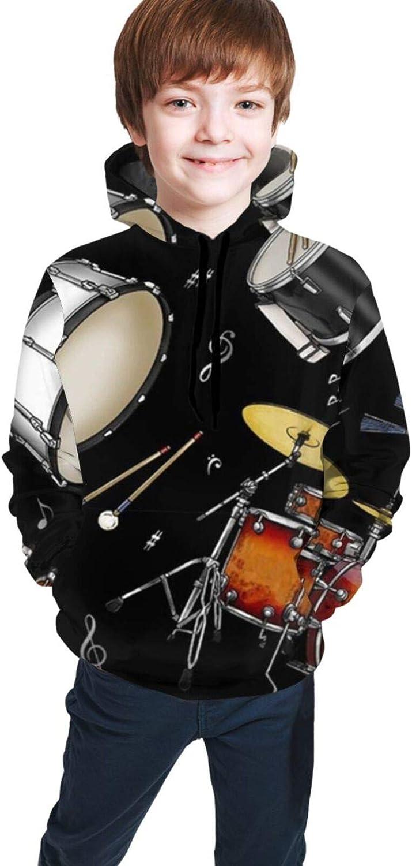 Las Large-scale sale Vegas Mall Boys Girls Sports Sweatshirt with Drawstrings Smooth H Pockets