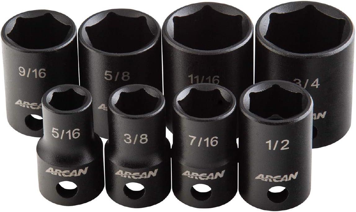 Arcan 3 8 Inch Purchase Drive Impact Socket Ranking TOP14 SAE Inc 4 Set 16 - 5