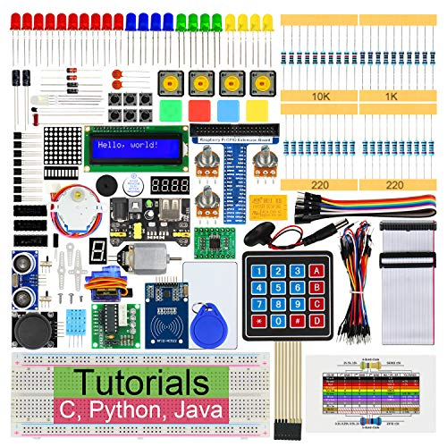 Freenove RFID Starter Kit for Raspberry Pi 4 B 3 B+ 400, 423-Page Detailed Tutorials, Python C Java Code, 204 Items, 53 Projects, Solderless Breadboard