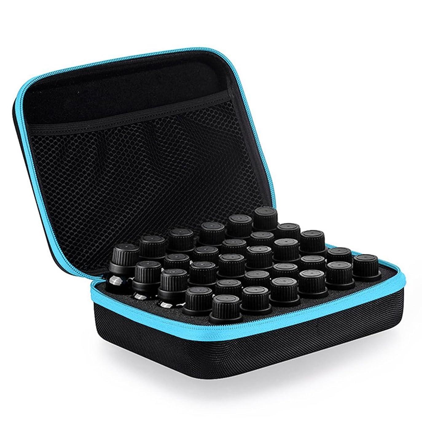 BULARY エッセンシャルオイル収納ケース エッセンシャルオイル収納ボックス プリント アロマケース 精油 ボックス 精油ケース 収納 化粧ポーチ リップクリーム ネイルポリッシュボトル アロマオイルポーチ ミニボトルケース 4色から選べる 30本用