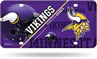 RICO INDUSTRIES NFL Minnesota Vikings Unisex Minnesota Vikings License Plate Metalminnesota Vikings License Plate Metal, Team Color, One Size