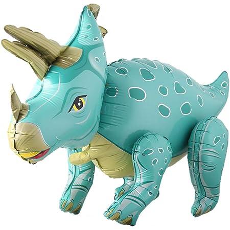 Weiba Foil Dinosaur Balloon,Tyrannosaurus Triceratops Animal Balloons for Birthday Party Baby Shower Decoration Party Supplies H Velociraptor