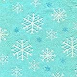 Fat Quarter Aqua Snowfall Baumwolle Quilten Stoff ideal