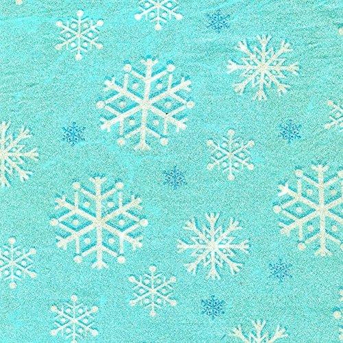Fat Quarter Aqua Snowfall Baumwolle Quilten Stoff ideal für Frozen Michael Miller