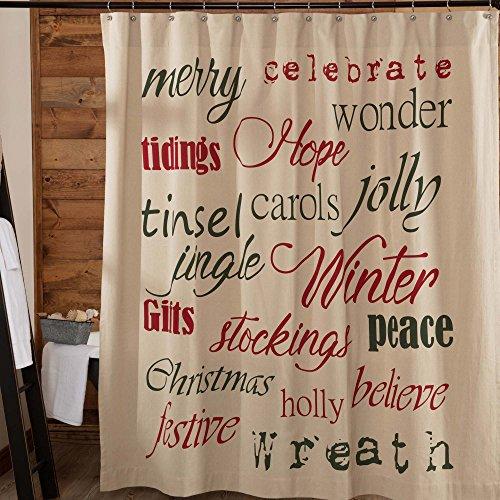 Piper Classics Seasonal Duschvorhänge, Baumwolle, Christmas Day, Christmas Day Shower Curtain