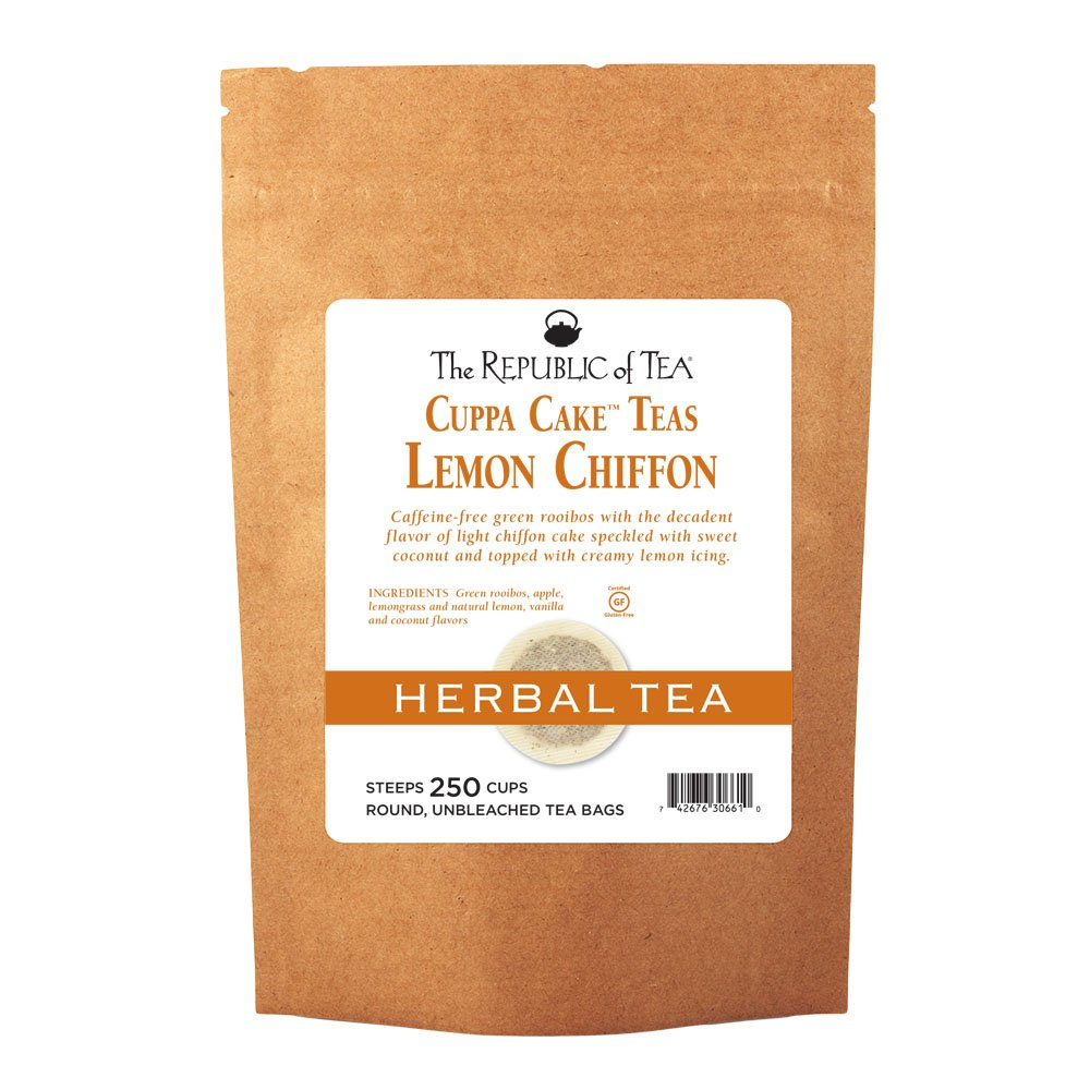 The Republic Of Tea Lemon Chiffon Cuppa Cake Tea 36 Tea Bags Decadent Herbal Green Rooibos Tea Grocery Gourmet Food Amazon Com