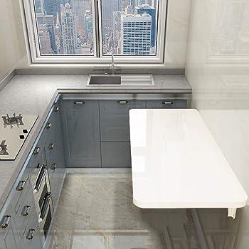 ZXYY Mesa Plegable de Pared Banco de Trabajo Plegable Blanco mesas para niños Plegables Mesa de Cocina y Comedor Escritorio para computadora Varios tamaños: Amazon.es: Hogar