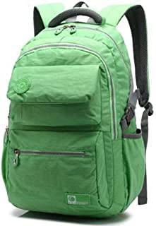 Backpack Stylish Lightweight Casual Backpack, 15.6-inch Notebook Bag, Computer Backpack, Male and Female Student Bag (Color : Green)