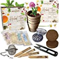 Herbal Tea Indoor Garden Seed Starter Growing Kit Gardening Gifts for Men and Women - Plant Peppermint, Lemon Balm, Chamomile, Clover