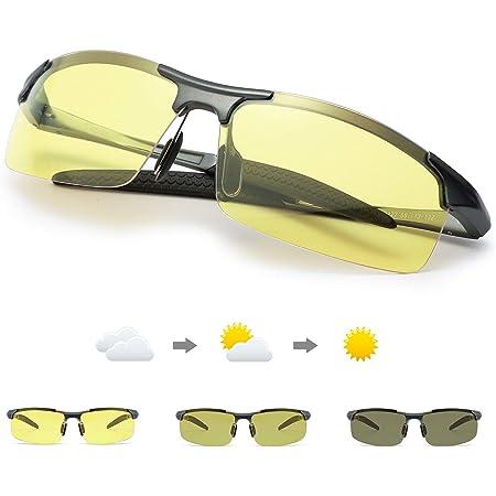 Herren Metallrahmen Photochrome Polarisierte Sonnenbrille Nachtsicht Brille 2020