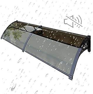 屋根庇 ひさし 雨よけ 住宅用ひさし 雨雪保護 遮音 梅雨対策 テラス 窓の屋根ふき アーチ型 UV レインシェルター サンシールド ポーチアウトドア カスタマイズ可能 2ピース接続セット 長さ60*壁側200cm