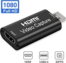 GOODAN Audio Video Capture Cards – HDMI to USB 2.0 – High Definition 1080p..