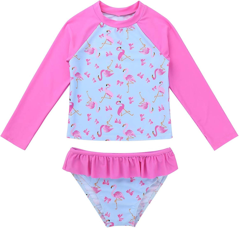 Hansber Baby Girls Rash Super sale period limited Shirt Sleeve Japan Maker New Flamingo F Print Long