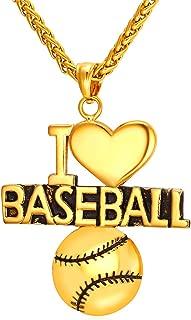 i love baseball necklace