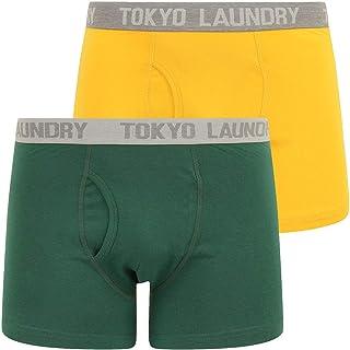 Tokyo Laundry Mens Designer Sport Stretch Trunks Contrast 2 Pack Boxer Shorts