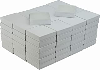 JPB White Swirl Cotton Filled Jewelry Box #33 (Case of 100) 3.5 inches x 3.5 inches