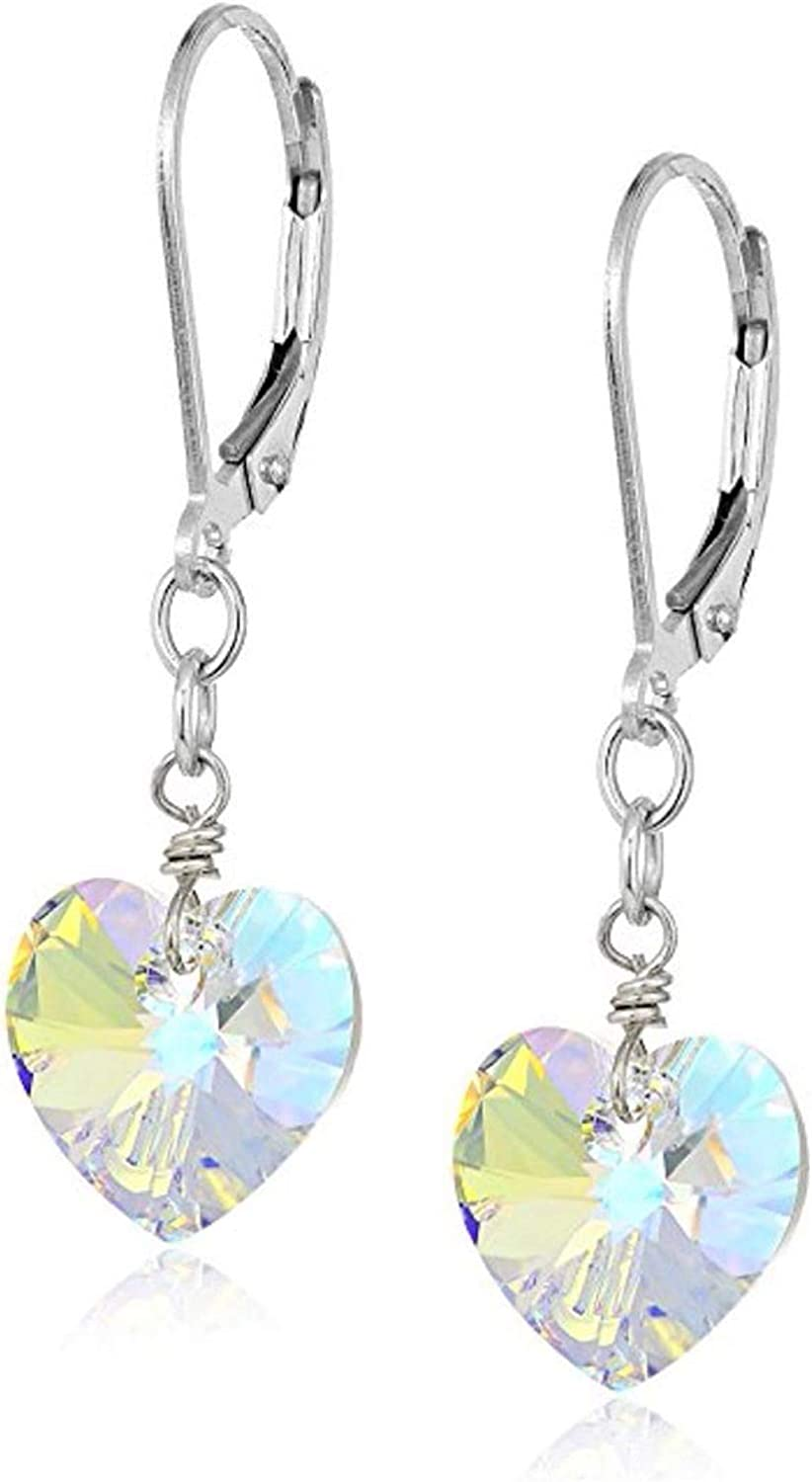 1 Pair Authentic Complete Free Shipping Ranking TOP20 925 Sterling Cry Earrings Drop Silver Swarovski