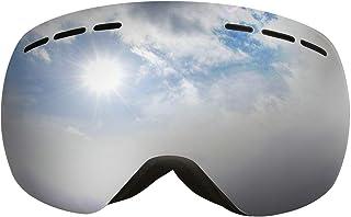 Aooaz Borderless Anti Fog And Windproof Ski Glasses Large Spherical Warm Snow Mirror