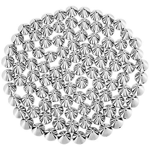 100 Stück Ziernieten Killernieten Spitz Leder DIY Handwerk Punk Nieten Ideal zum Dekorieren von Taschen, Schuhen, Mäntel, Handschuhe, Armbänder, 10 x 8,5 mm