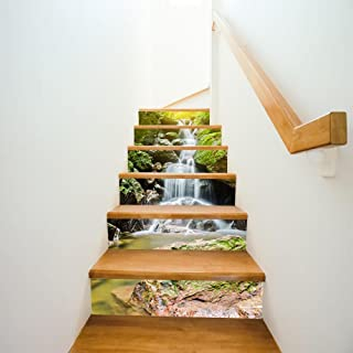 Mkxiaowei Pegatinas de pared escaleras casa creativa para decorar las escaleras del pasillo el decorativas
