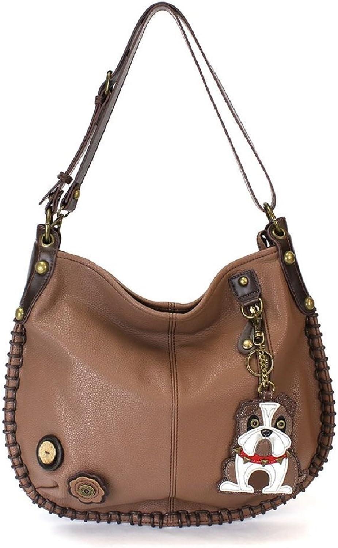 Chala Charming Hobo Crossbody Bag Bulldog Brown