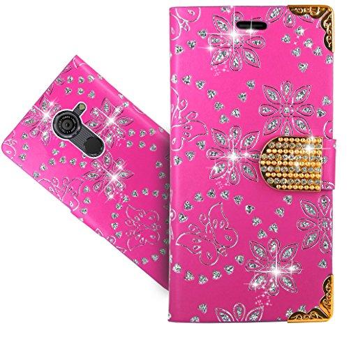 FoneExpert® Vodafone Smart Platinum 7 Handy Tasche, Bling Luxus Diamant Wallet Case Flip Cover Hüllen Etui Hülle Ledertasche Lederhülle Schutzhülle Für Vodafone Smart Platinum 7