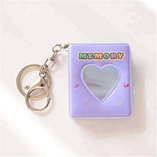 Photo Albums 16 Photos Map Holder 1 Inch Card Bag Photo Album Keychain Hollow Love Photo Halter Keys Rings Holding Busines...