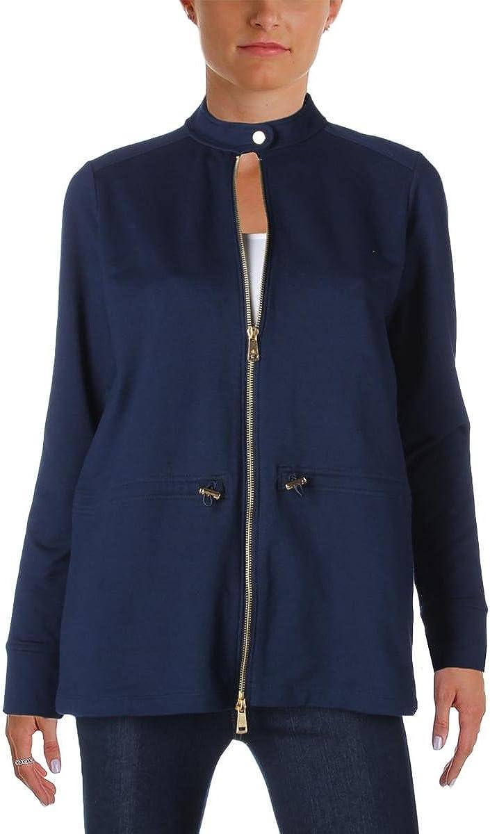 LAUREN RALPH Women's Full-Zip Navy Small Jacket In a popularity Japan Maker New