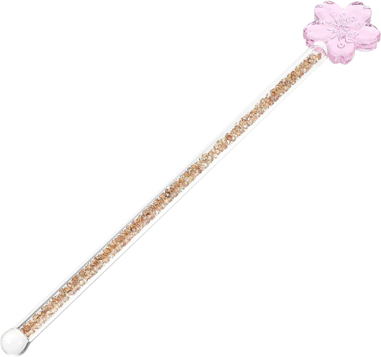 Cabilock Glass 2021 model Overseas parallel import regular item Stirring Sticks Stick Cof Swizzle Flower