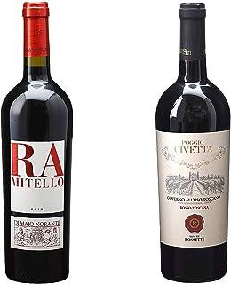 [ 2本 まとめ買い ワイン 飲み比べ ] 2014年 ラミテッロ ロッソ (ディ マーヨ ノランテ) 750ml と 2017年 ゴヴェルノ アッルーゾ トスカーノ ポッジョ チヴェッタ (テヌーテ ロセッティ) 750ml ワインセット
