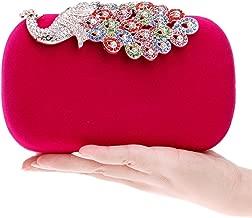 YAN Damen Clutch Geldbörse Damen Prom Party Hochzeit Taschen Designer Abendtaschen mit Einer Kette Gürtel Rot Lila Blau Schwarz Rosa (Color : Rosa)