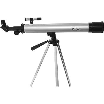 Vivitar TEL50600 60X/120X Telescope Refractor with Tripod (Black)