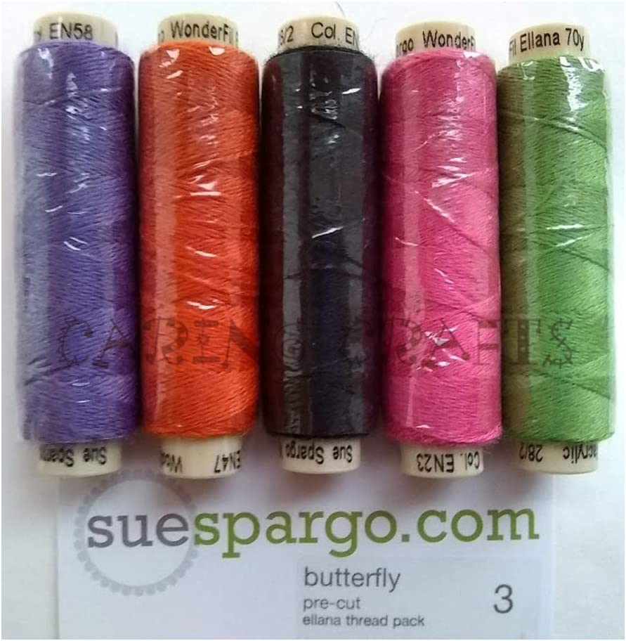 Sue Spargo Ellana Finally resale start Wool Blend Thread 70-Yar for Embroidery Five Department store -