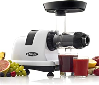 Omega J8006HDS Nutrition Center Quiet Dual-Stage Slow Speed Masticating Juicer Makes Fruit and Vegetable 80 Revolutions pe...