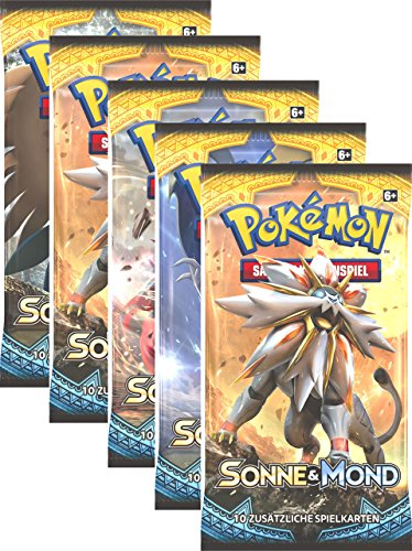 Pokemon Sonne & Mond Serie 1 - Booster Pack - Deutsch (5 Booster)